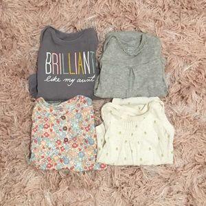 💕 Baby Girl Bundle 3-6/6 Month Bodysuits/Onesies